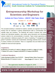 ICTP – SAIFR » Entrepreneurship Workshop for Scientists ...